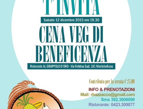 Cena Vegan 12 dicembre 2015 a Montebelluna